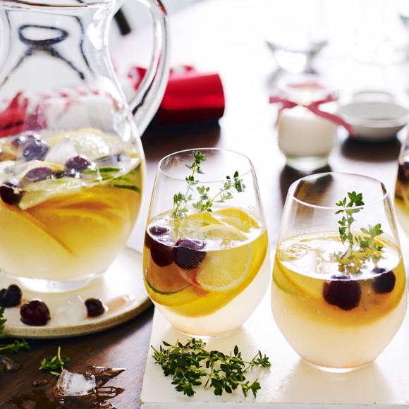 Festive Drink: Citrus and Cherry Spritzer