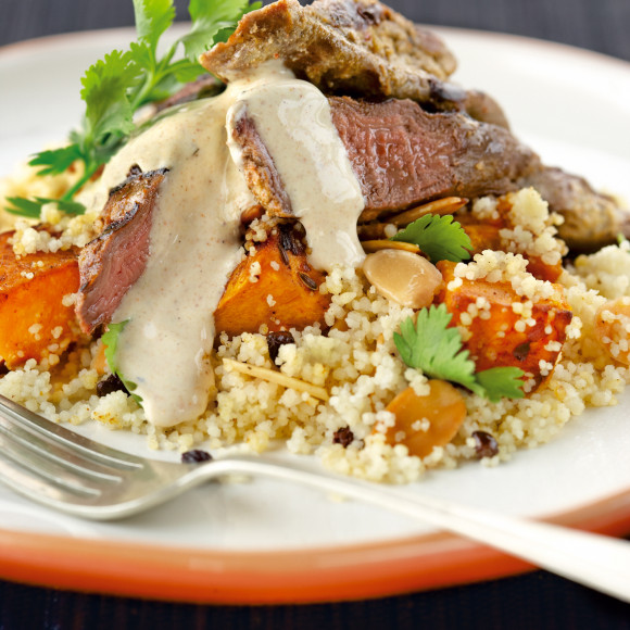 Middle Eastern Yoghurt Lamb with Pumpkin Couscous
