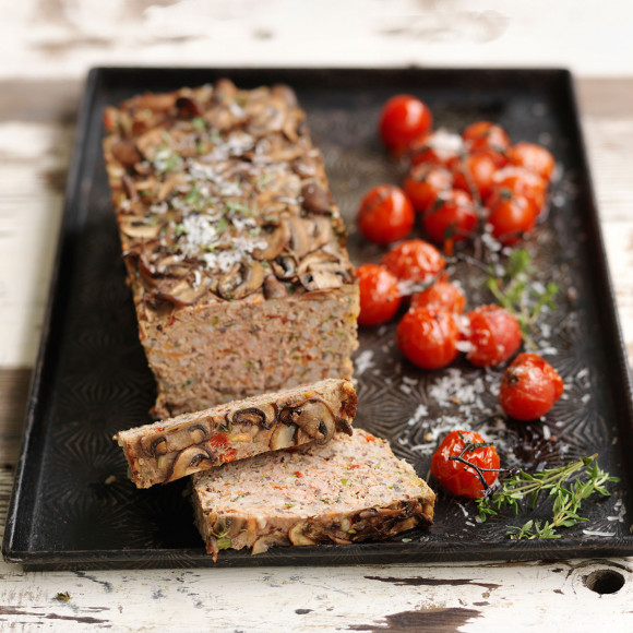 Beef and Mushroom Meatloaf