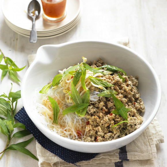 Vietnamese Pork and Mushrooms with Noodles
