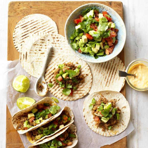 Mushroom and Beef Soft Shell Tacos