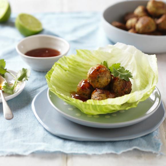 Thai Mushroom and Chicken Meatballs