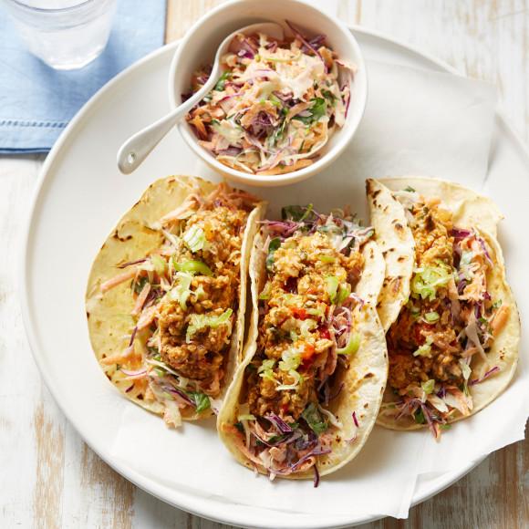 Chicken and Mushroom Tacos