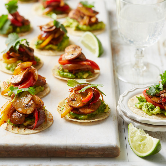 Spiced Mushroom and Avocado Tostadas