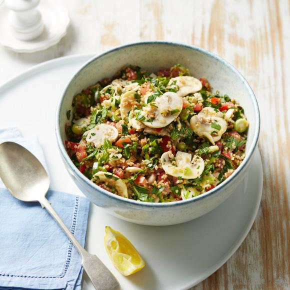 Marinated Mushroom Tabbouleh Salad