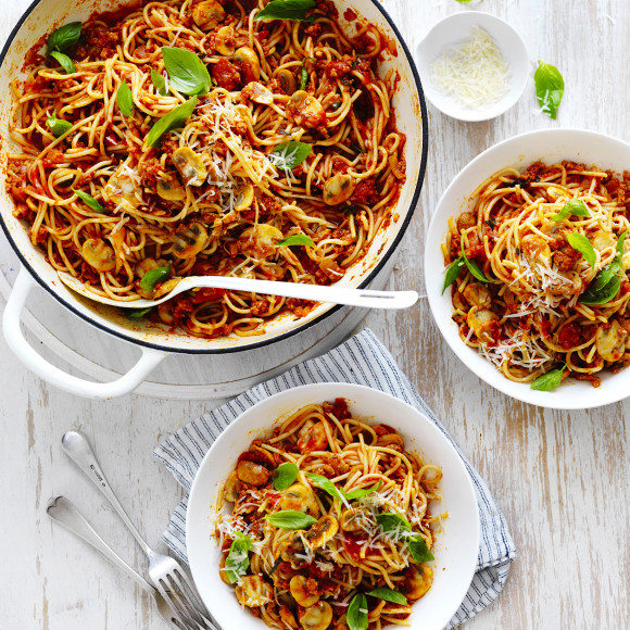 mushroom spaghetti bolognese recipe myfoodbook how to much mushroom bolognese. Black Bedroom Furniture Sets. Home Design Ideas