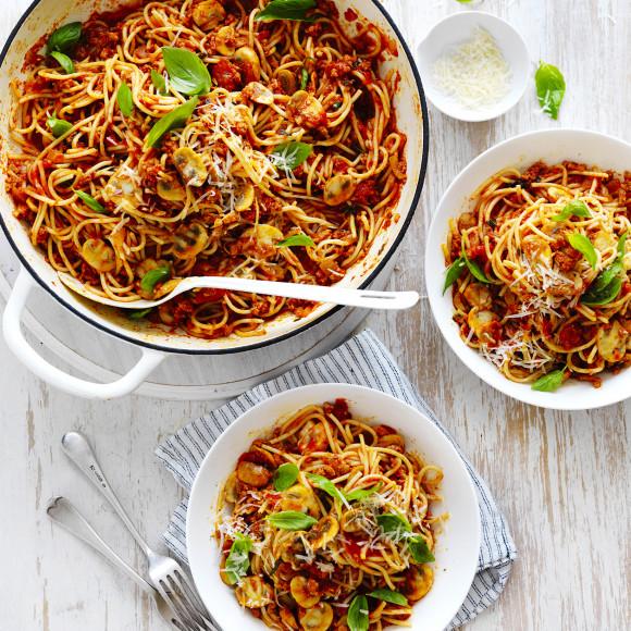 Spaghetti Bolognese Recipe using mushrooms