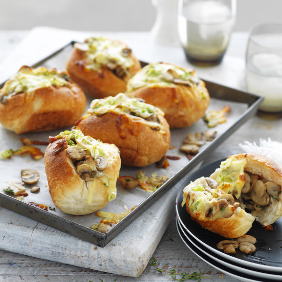 Easy Mushroom and Cheese Melt Rolls Recipe