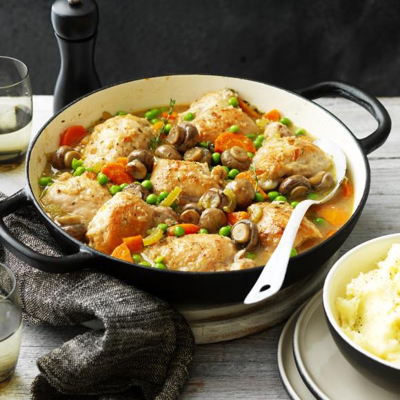 One Pot Chicken And Mushroom Casserole Recipe Myfoodbook
