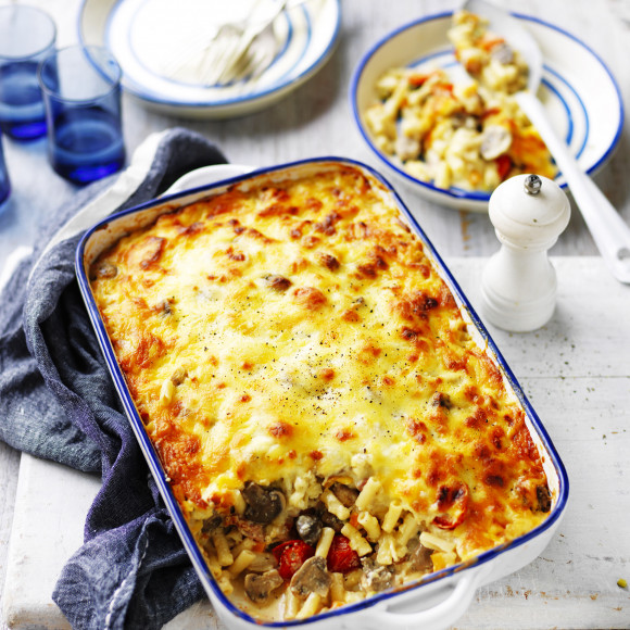 Cheesy Vegetable Pasta Bake Recipe