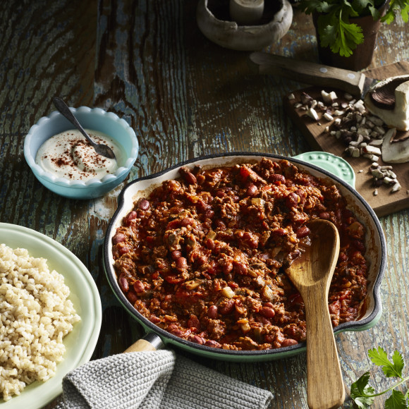 Beef and Mushroom Chilli Con Carne with a Cayenne Kick