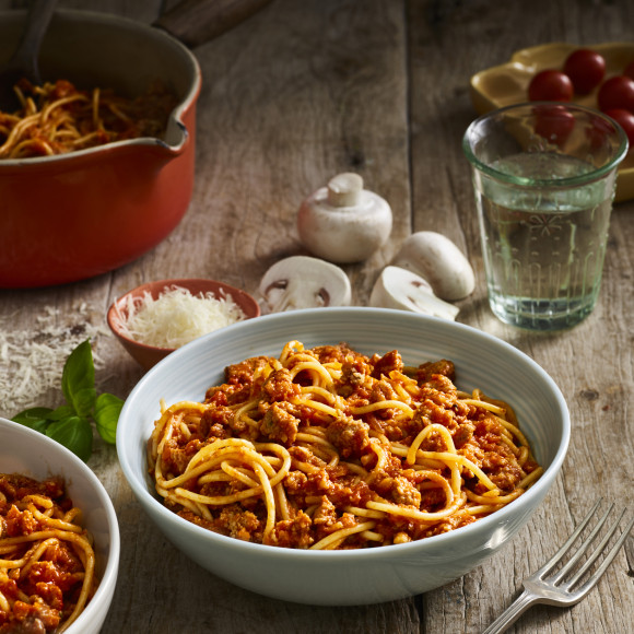 Quick Minute Spaghetti And Mushroom Bolognese