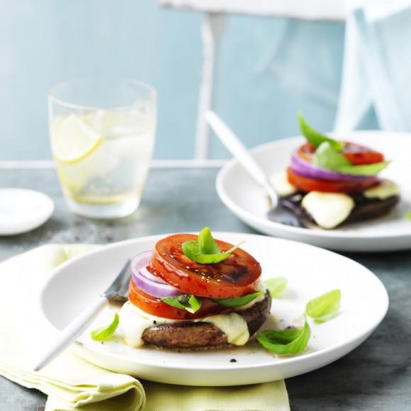 BBQ Mushroom Caprese Salad