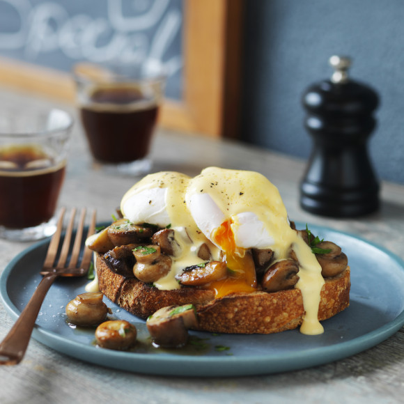 Mushrooms and Poached Eggs on Sourdough bread recipe