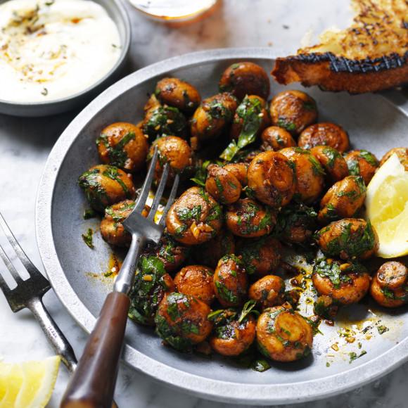 Tapas Style Garlic Mushrooms