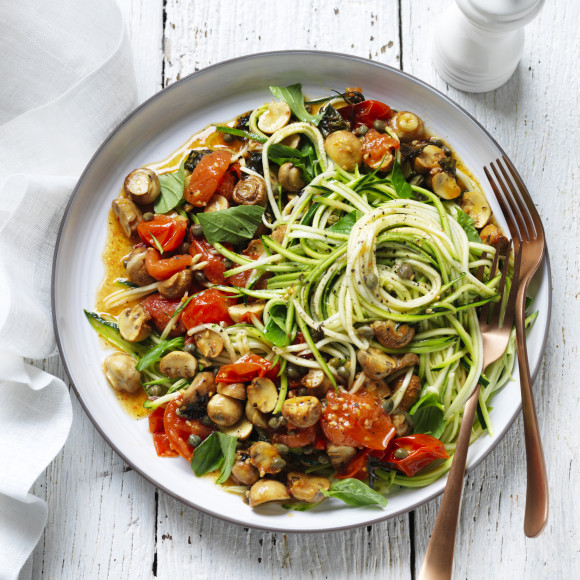 Zoodle and Mushroom salad