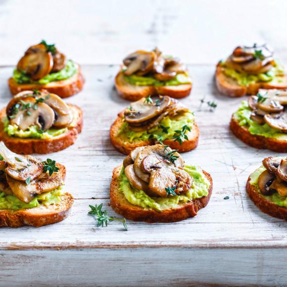 Mushroom and Avocado Toasties