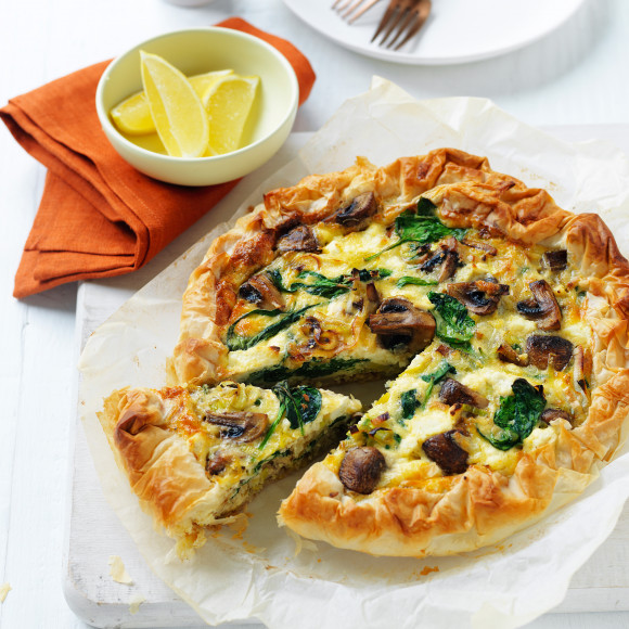 Mushroom and Leek Pie recipe