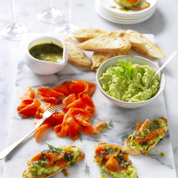 Smoked Salmon On Avocado With Special Dressing Recipe Myfoodbook