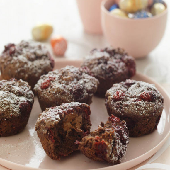 Raspberry And Chocolate 'Easter' Muffins