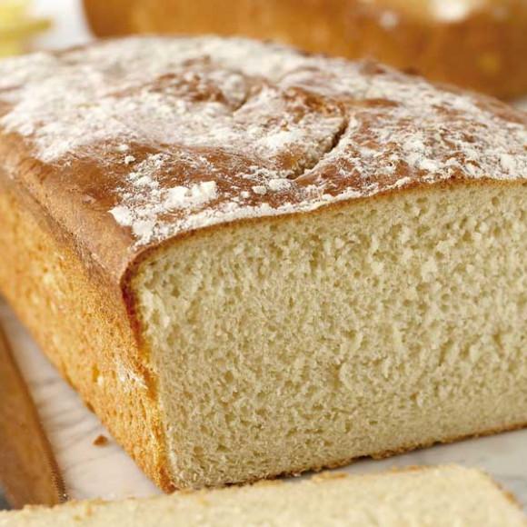 Classic white crusty bread