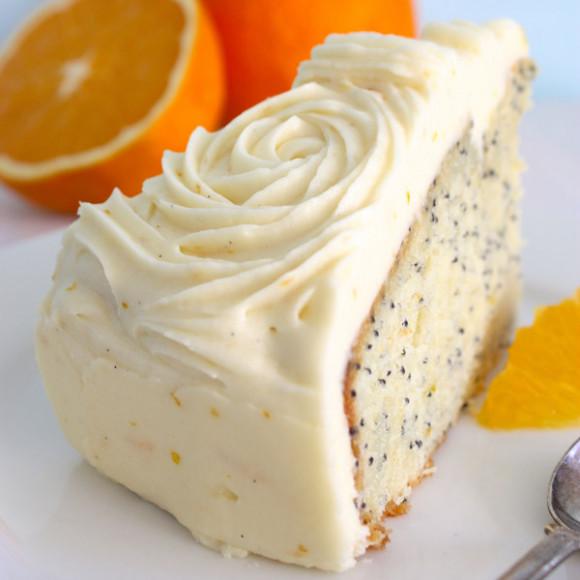 Orange Poppy Seed Cake Cream Cheese Icing