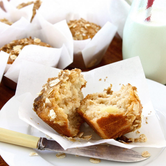 Apple & Pear Crumble Muffins