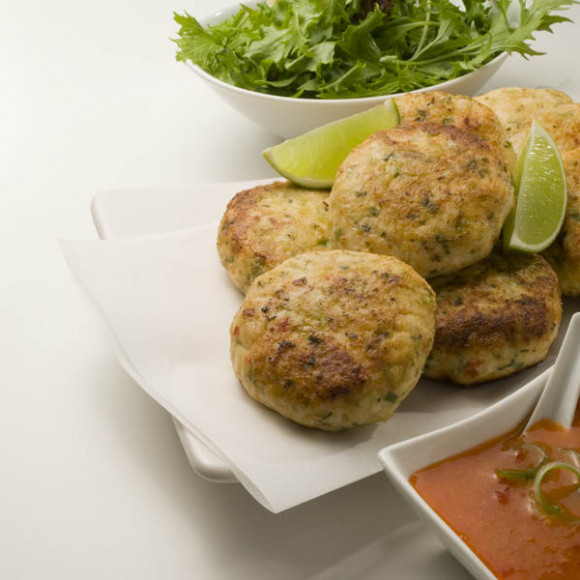 Thai Chicken Fritters With Sweet Chilli Amp Ginger Sauce
