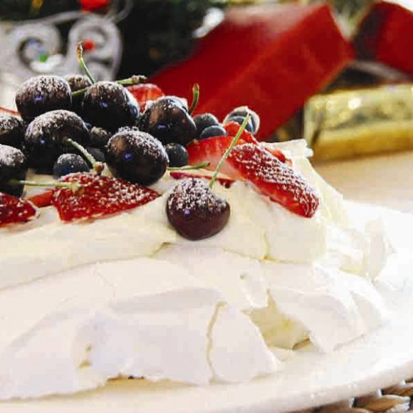 Pavlova with Seasonal Fruit
