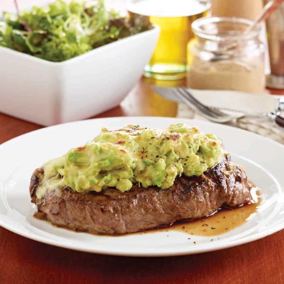 Avocado and Mozzarella Mustard Steaks
