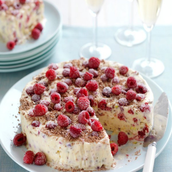 Raspberry, Meringue & Chocolate Ice-Cream Cake Recipe | myfoodbook ...