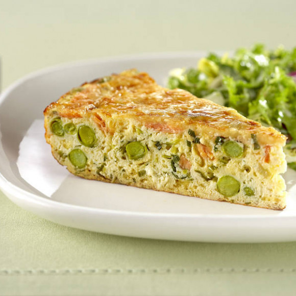 Smoked Salmon and Ricotta Frittata with Shredded Endive Salad