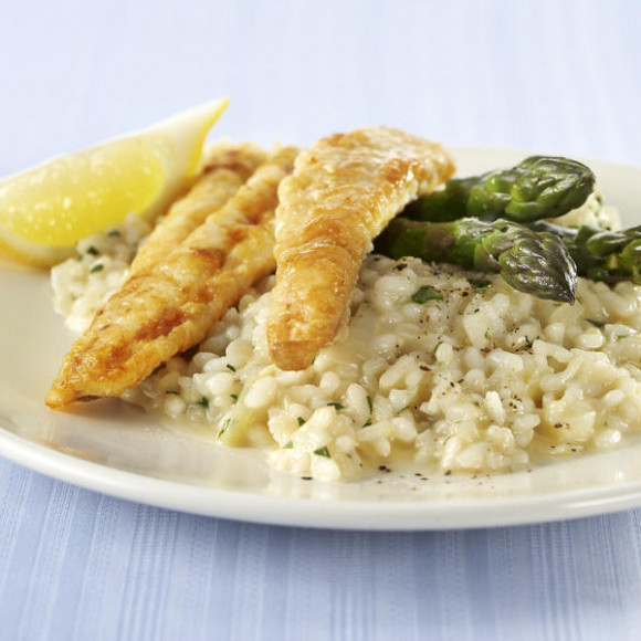 Lemon Risotto with Grilled Fish