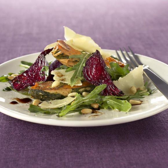 Pumpkin, Beetroot and Parmesan Salad