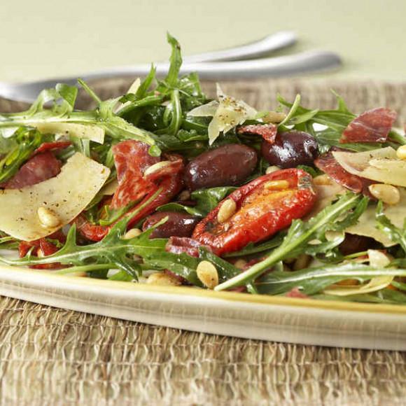 Crispy Salami, Tomato & Pine Nut Salad