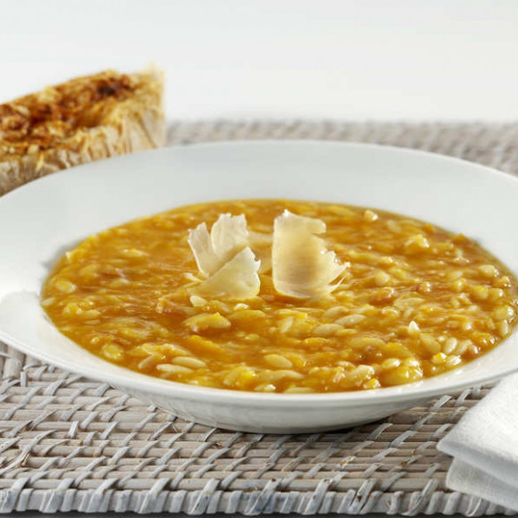 Smokey Pumpkin Soup with Parmesan Garlic Toasts