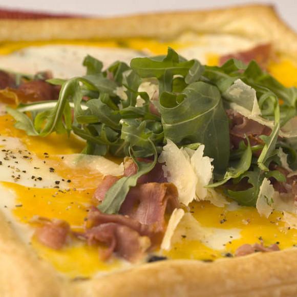 Prosciutto, Rocket & Egg Tart