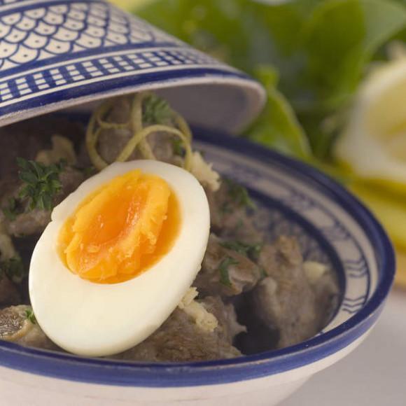 Greek-style Lamb and Egg Braise