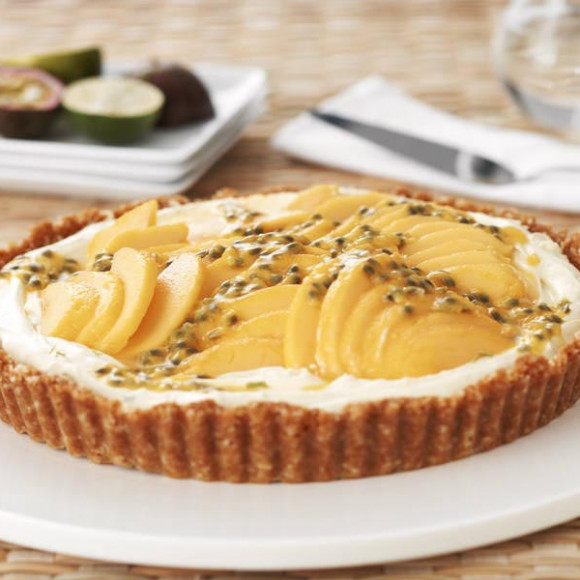 Lime Mascarpone And Mango Tart Recipe Myfoodbook Easy Mango Tart