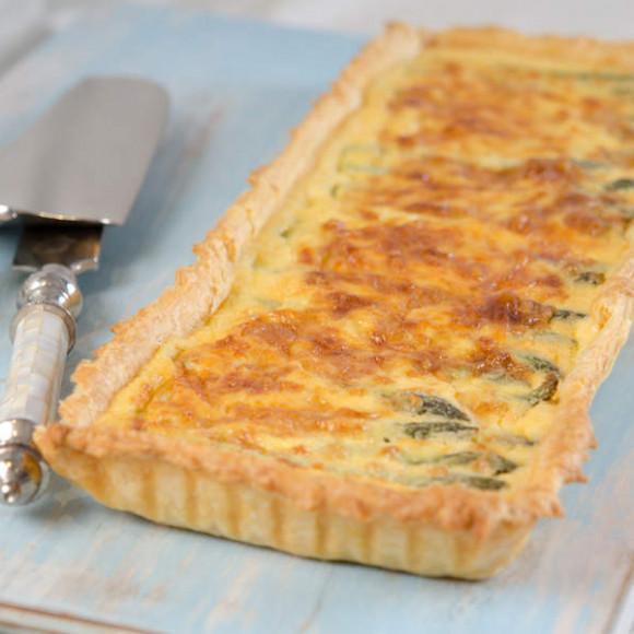Asparagus & Gruyere Tart Recipe | myfoodbook