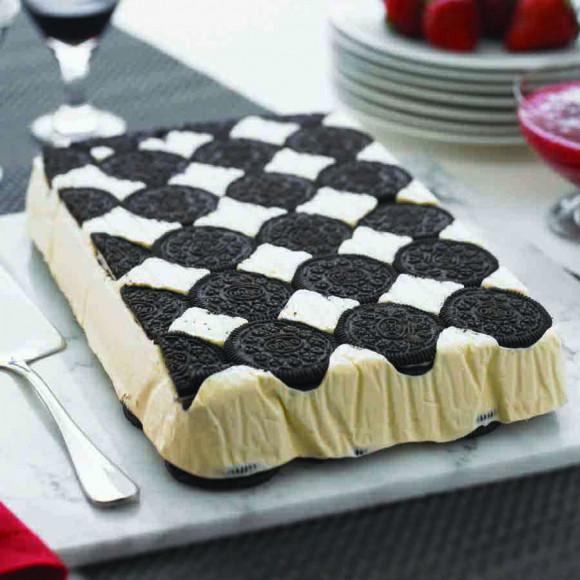 White Chocolate Oreo Ice Cream Slice