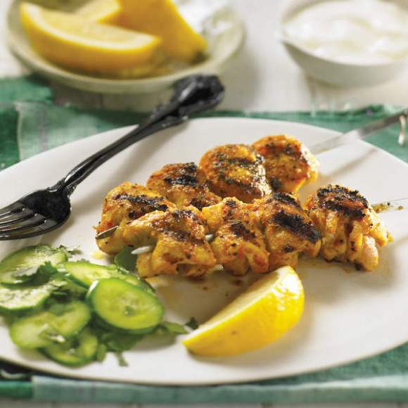 Moroccan Spiced Cornfed Chicken Skewers With Natural Yoghurt Recipe Myfoodbook