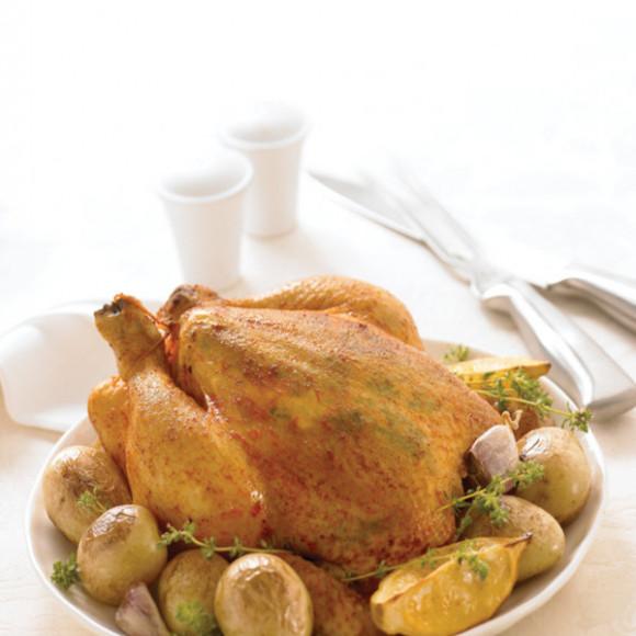 Roast Lemon Herbed Cornfed Chicken