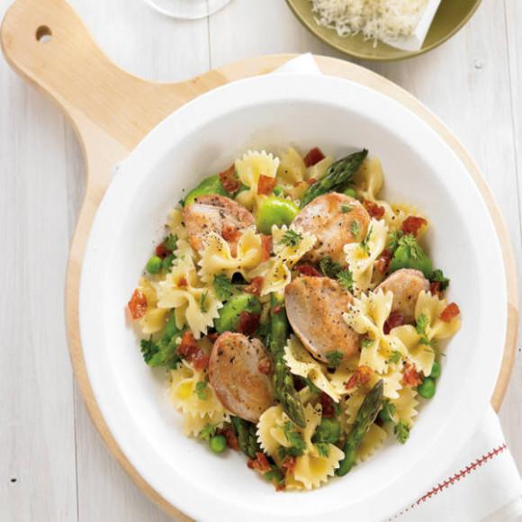 Arugula & Parmesan Ravioli Primavera Recipe — Dishmaps