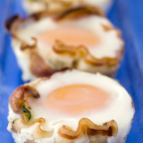 Pancetta and egg muffins