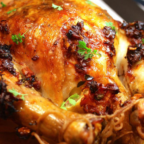 Lemon & Prosciutto Roast Chicken