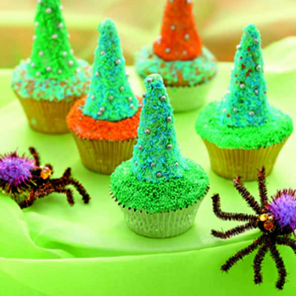 Chocolate Wizard Hat Cup Cakes