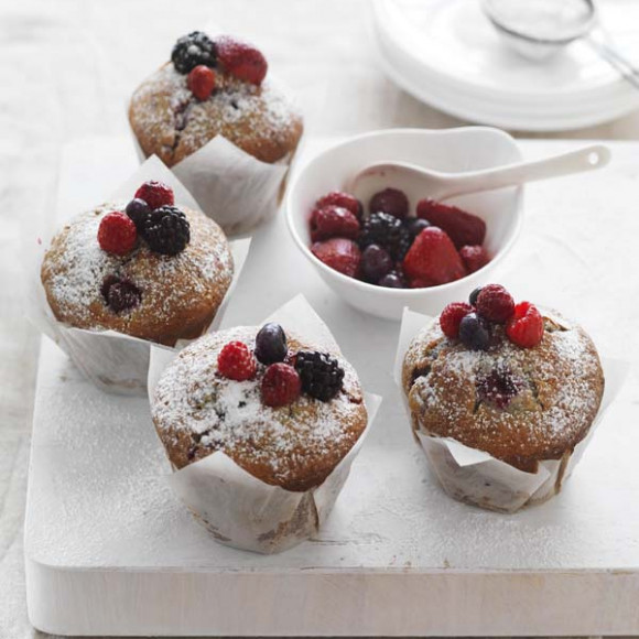 Organic Mixed Berry Buttermilk Muffins