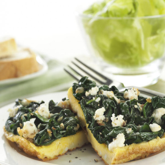 Feta and Spinach Omelette