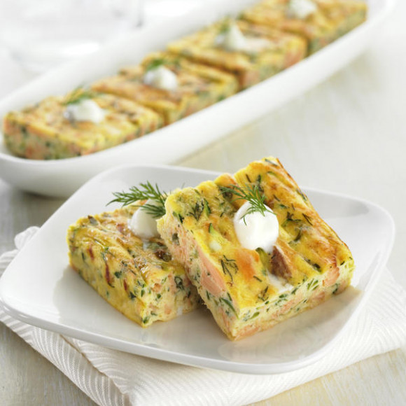 Smoked Trout Frittata Squares